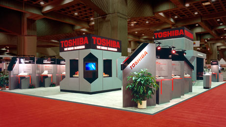 Custom Design Exhibits & Displays-Toshiba Feature